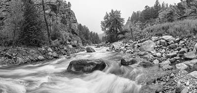 Fisherman's Panorama Colorado Canyon View Bw Poster by James BO  Insogna