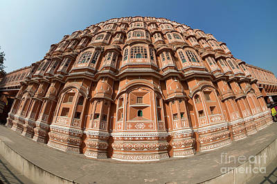 Poster featuring the photograph Fisheye View Of Hawa Mahal by Yew Kwang