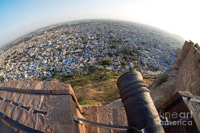 Poster featuring the photograph Fisheye View Of Jodhpur by Yew Kwang