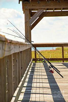 Fishing At Shem Creek Poster