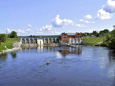 Fishing At The Croton Dam Poster