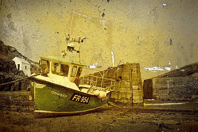 Fishing Boat - Porthgain Poster by Gareth Davies