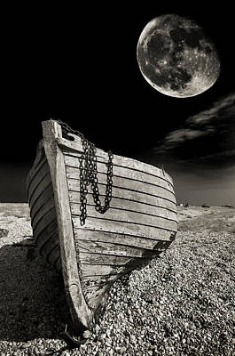 Fishing Boat Graveyard 3 Poster by Meirion Matthias