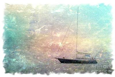 Fishing Boat In The Morning Poster