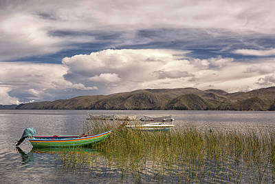 fishing boat lake Titicaca Poster by Dirk Ercken