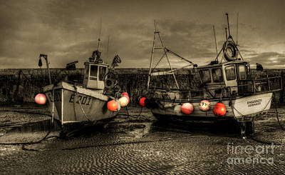 Fishing Boats At Lyme Regis Poster
