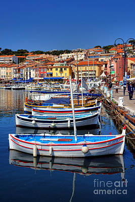 Fishing Boats In Cassis Poster