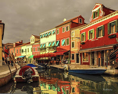 Fishing Boats In Colorful Burano Poster