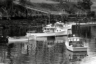 Poster featuring the photograph Fishing Boats In Maine Port by Olivier Le Queinec
