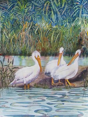 Fishing Buddies Poster by Martha Ayotte