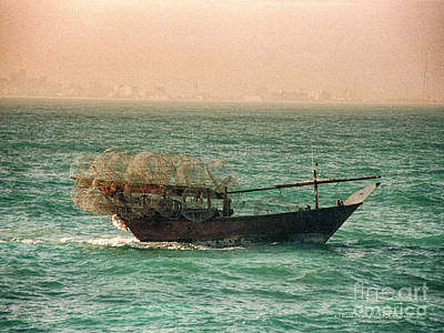 Poster featuring the photograph Fishing Dhow by Charles McKelroy