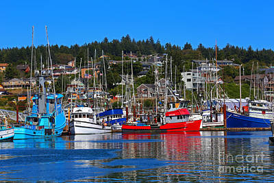 Fishing Fleet At Newport Harbor Poster by Marty Fancy