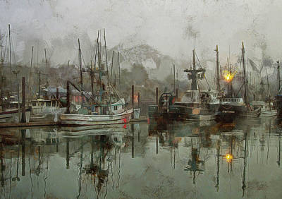 Poster featuring the photograph Fishing Fleet Dock Five by Thom Zehrfeld