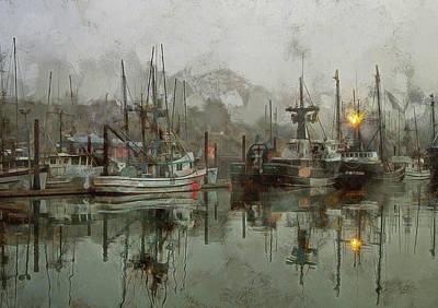 Fishing Fleet Dock Five Poster