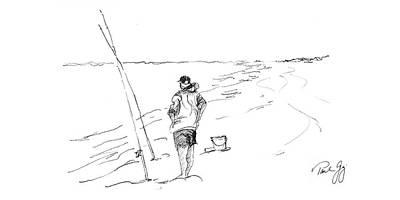Fishing For Pompano Off Pensacola Florida Poster