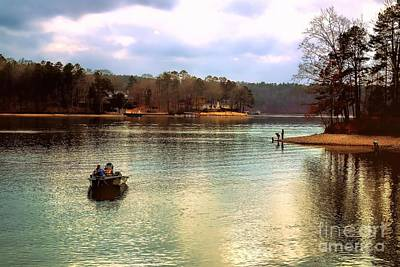 Poster featuring the photograph Fishing Hot Springs Ar by Diana Mary Sharpton