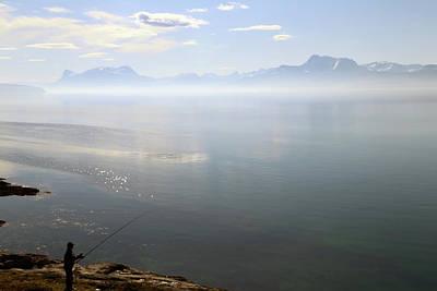 Fishing In Norway Poster by Tamara Sushko
