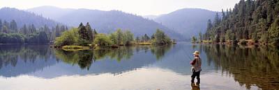 Fishing, Lewiston Lake, California, Usa Poster by Panoramic Images