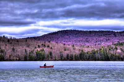 Fishing Limekiln Lake Poster by David Patterson