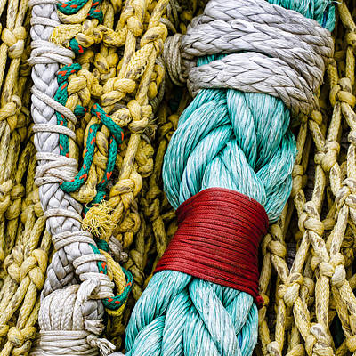 Fishing Net Detail Poster by Carol Leigh