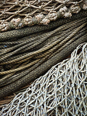 Fishing Nets Poster by Carol Leigh