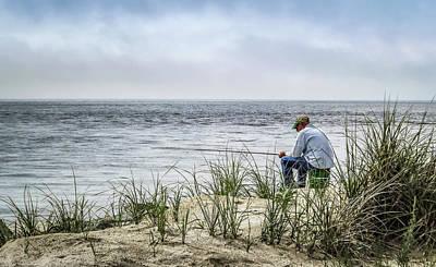 Fishing Quietly Poster by Robert Anastasi