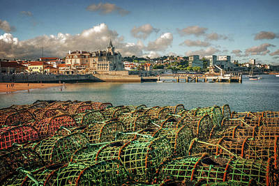 Fishing Traps In Cascais Poster