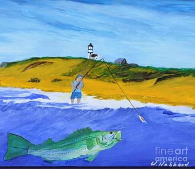 Fishing Under Highland Light Poster by Bill Hubbard