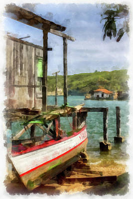 Fishing Village Poster by Dawn Currie