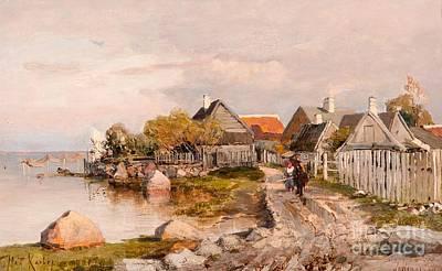 Fishing Village In Haapsalu Poster
