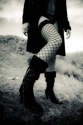 Fishnet Leg Poster by Scott Sawyer