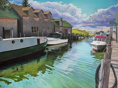 Fishtown In Ripples Poster by Jennifer Oakley-Delaplante