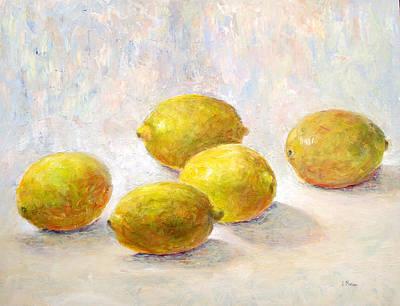 Five Lemons Poster by Jill Musser