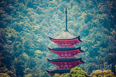 Five-storey Pagoda In Miyajima, Japan Poster by Mariusz Prusaczyk
