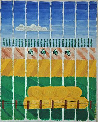 Five Tractors Poster