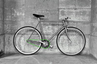 Fixed Gear Bicycle Poster by Dutourdumonde Photography