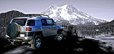 Fj Cruiser Mt. Rainier Washington Poster