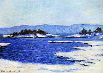 Fjord At Christiania Poster by Claude Monet