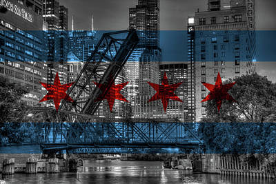 Flag And Kinzie Poster by Adam Oles