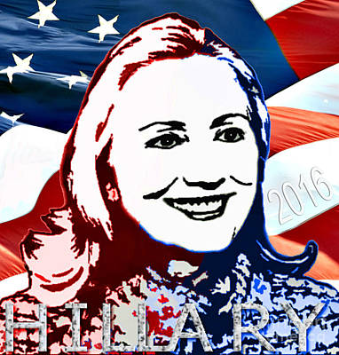 Flag Of Hillary Poster by Jost Houk