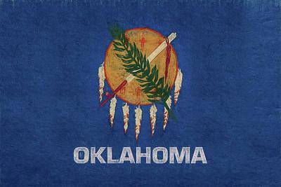 Flag Of Oklahoma Grunge Poster