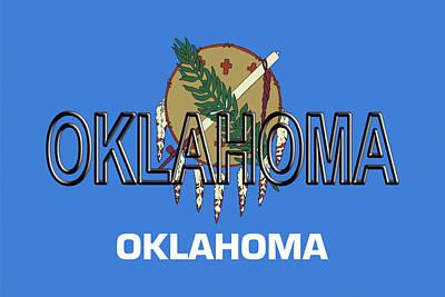 Flag Of Oklahoma Word Poster