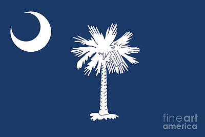 Poster featuring the digital art Flag Of South Carolina Authentic Version by Bruce Stanfield