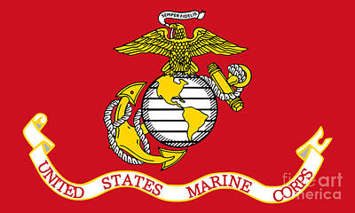 Flag Of The United States Marine Corps Poster by Pg Reproductions