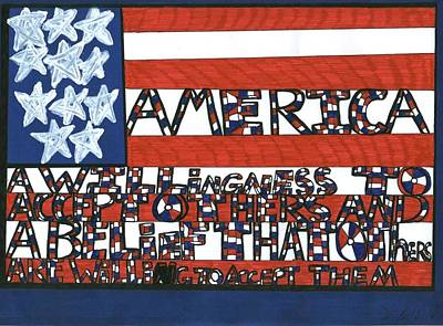 Flag One Poster by Darrell Black
