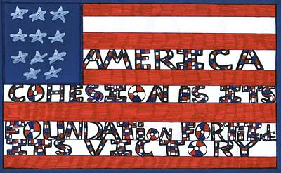 Flag Two Poster by Darrell Black