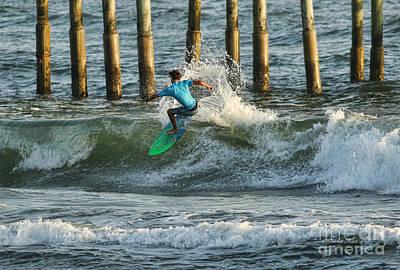 Flagler Beach Surf Day Poster