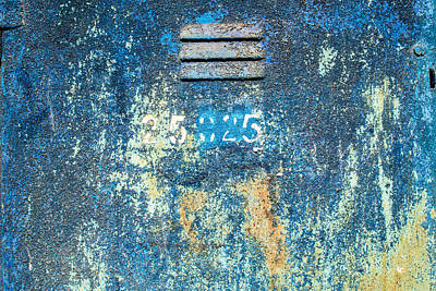 Flaking Paint On Metal With Grill Vent Poster by John Williams