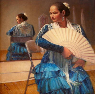 Poster featuring the painting Flamenco 1 by Donelli  DiMaria