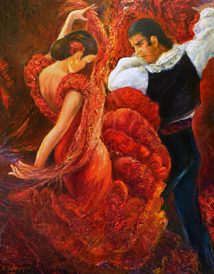 Flamenco Couple 2 Poster